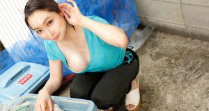 吉岡蓮美 ゴミ捨て場で出会った浮きブラ美人妻と濃厚中出しSEX!
